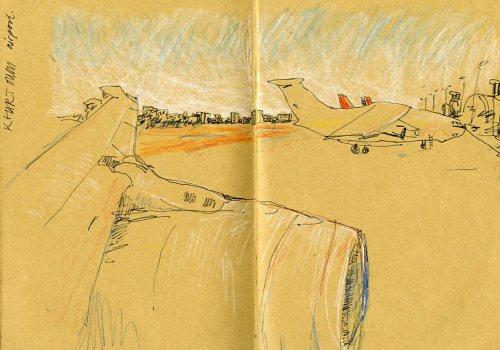 Khartoum airport, on the way